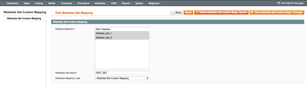Magboxes Product Synchro Web Mapping