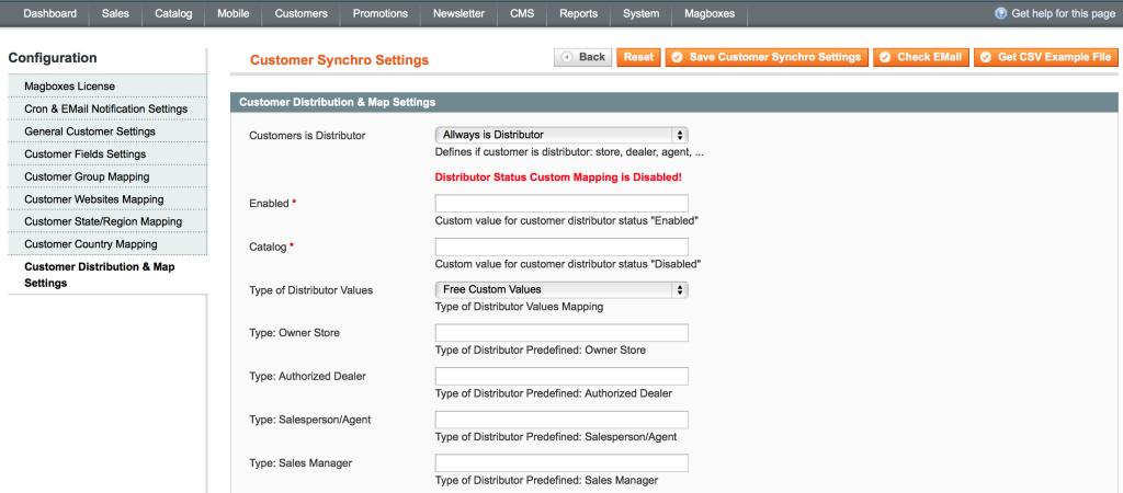 Magboxes Sincronización Cliente - Datos Distribución y Google Maps